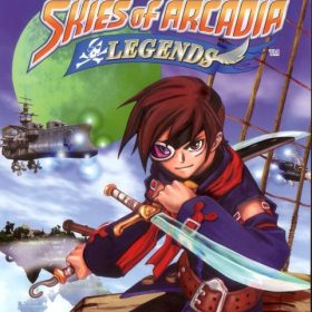 The cover art of the game Skies Of Arcadia Legends (Undub).