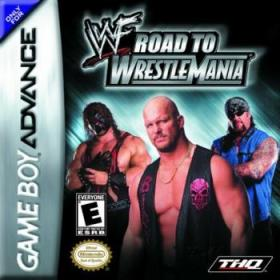 The cover art of the game WWF: Road to WrestleMania.