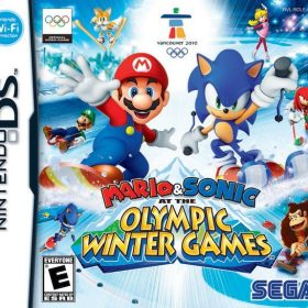 The cover art of the game Mario & Sonic at the Olympic Winter Games.