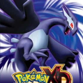 The cover art of the game Pokémon XD: Gale of Darkness.