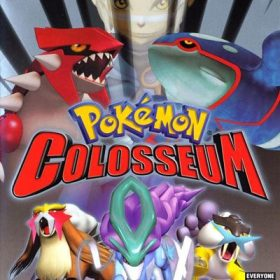 The cover art of the game Pokémon Colosseum.