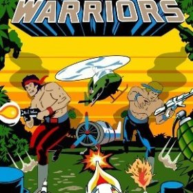 The cover art of the game Ikari Warriors.