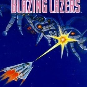 The cover art of the game Blazing Lazers.