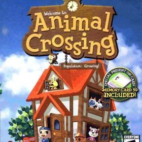 The cover art of the game Animal Crossing.
