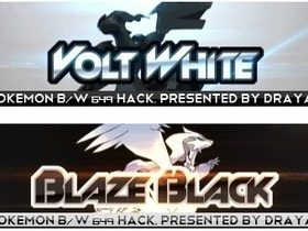The cover art of the game Pokemon Blaze Black/Volt White (Hack).