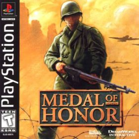 The cover art of the game Medal of Honor.