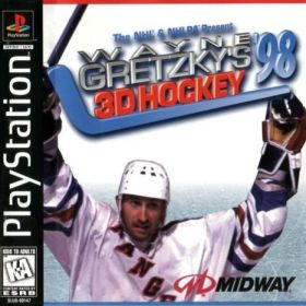 The cover art of the game Wayne Gretzky's 3D Hockey '98.