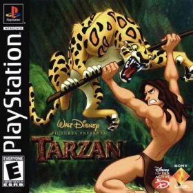 The cover art of the game Disney's Tarzan.
