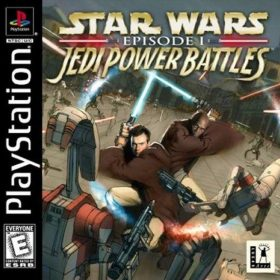 The cover art of the game Star Wars: Episode I - Jedi Power Battles.