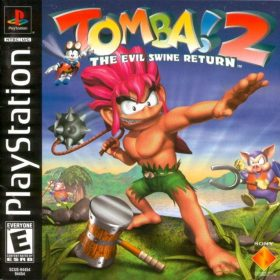 The cover art of the game Tomba! 2: The Evil Swine Return.