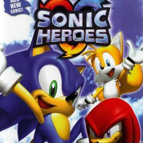 The cover art of the game Sonic Heroes.