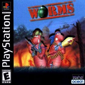 The cover art of the game Worms.