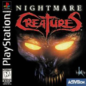 The cover art of the game Nightmare Creatures.