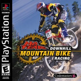 The cover art of the game No Fear Downhill Mountain Bike Racing.