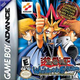 The cover art of the game Yu-Gi-Oh! Worldwide Edition: Stairway to the Destined Duel.