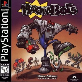 The cover art of the game BoomBots.