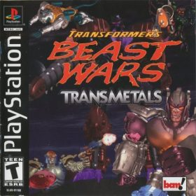 The cover art of the game Transformers: Beast Wars Transmetals.