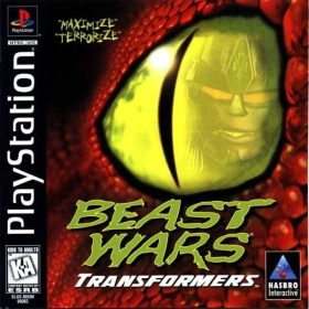 The cover art of the game Beast Wars: Transformers.