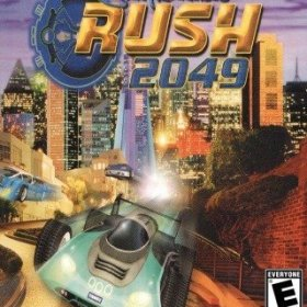 The cover art of the game San Francisco Rush 2049.