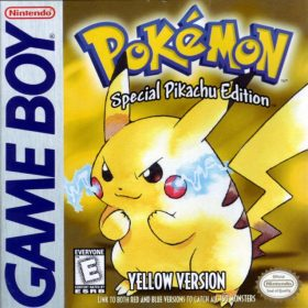 The cover art of the game Pokemon Yellow Version: Special Pikachu Edition.