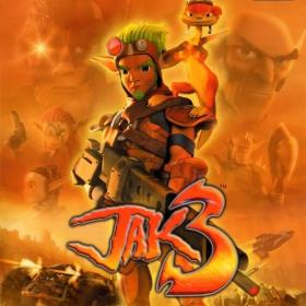 The cover art of the game Jak 3.