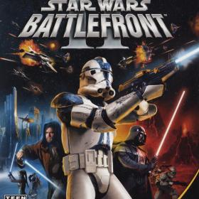 The cover art of the game Star Wars: Battlefront II.