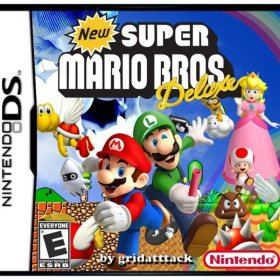 The cover art of the game New Super Mario Bros. Deluxe!.