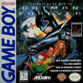 The cover art of the game Batman Forever.