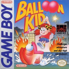 The cover art of the game Balloon Kid.