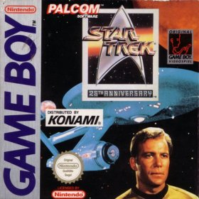 The cover art of the game Star Trek - 25th Anniversary .