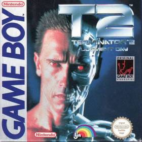 The cover art of the game Terminator 2 - Judgment Day .