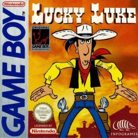 The cover art of the game Lucky Luke.