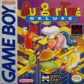 The cover art of the game BurgerTime Deluxe.