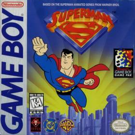 The cover art of the game Superman .