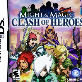 The cover art of the game Might & Magic: Clash of Heroes.