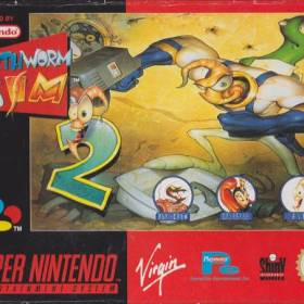 The cover art of the game Earthworm Jim 2 .