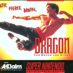 The cover art of the game Dragon - The Bruce Lee Story .