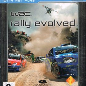 The cover art of the game WRC: Rally Evolved (Platinum).