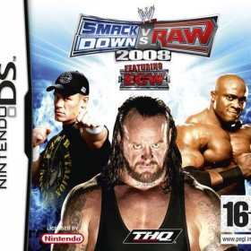 The cover art of the game WWE Smackdown vs. Raw 2008.