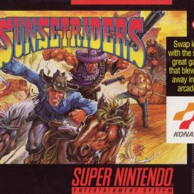 The cover art of the game Sunset Riders .