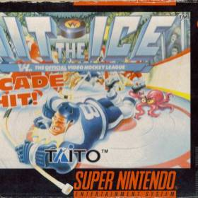 The cover art of the game Hit the Ice .