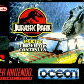 The cover art of the game Jurassic Park II - The Chaos Continues.