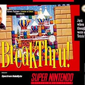 The cover art of the game BreakThru!.
