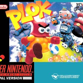 The cover art of the game Plok! .