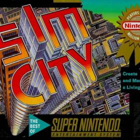 The cover art of the game SimCity .