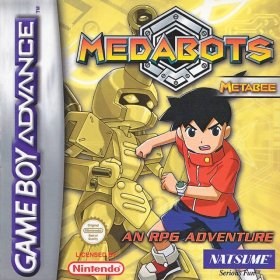 The cover art of the game Medabots - Metabee Version.
