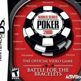 The cover art of the game World Series of Poker 2008: Battle For The Bracelets.