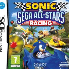The cover art of the game Sonic & Sega All-Stars Racing.