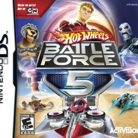 The cover art of the game Hot Wheels: Battle Force 5.