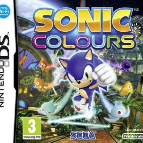 The cover art of the game Sonic Colours.